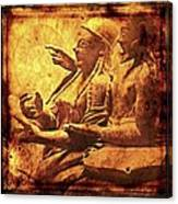 The Loving Etruscan Couple Vanished Civilisations Canvas Print