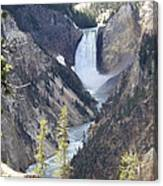 The Lower Falls Of Yellowstone River Canvas Print