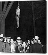 The Lynching Of A Murderer Canvas Print