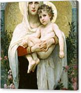 The Madonna Of The Roses Canvas Print