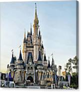 The Magic Kingdom Castle On A Beautiful Summer Day Canvas Print