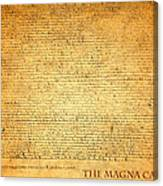 The Magna Carta 1215 Canvas Print