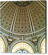 The Main Reading Room Library Of Congress Canvas Print