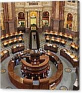 The Main Reading Room Of The Library Of Congress Canvas Print