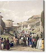 The Main Street In The Bazaar Canvas Print