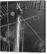 The Mainmast Of The Amazing Grace In Infrared Canvas Print
