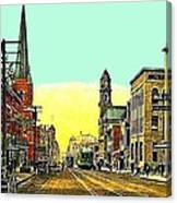 The Majestic Theatre And Commerce St. In Dallas Tx In 1919 Canvas Print