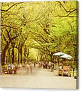 The Mall In Central Park New York City Fall Foliage Canvas Print