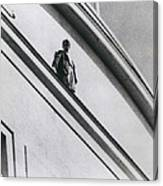 The Man In Love Is Saved From A Parapet Canvas Print