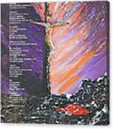 The Man On The Cross With Poem Canvas Print