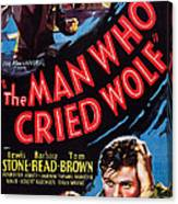 The Man Who Cried Wolf, Us Poster Canvas Print