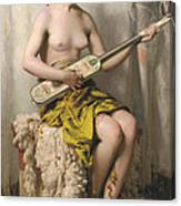 The Mandolin Player Canvas Print