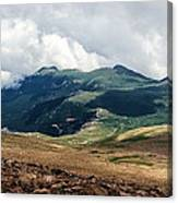The Manitou And Pikes Peak Railway Cog Descends Canvas Print