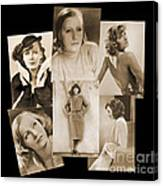The Many Faces Of Greta Garbo Canvas Print
