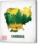 The Map Of Cambodia 2 Canvas Print