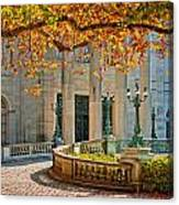 The Marble House In Autumn Canvas Print