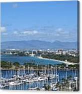 The Marina At Waikiki Canvas Print