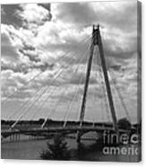 The Marine Road Bridge Southport Canvas Print