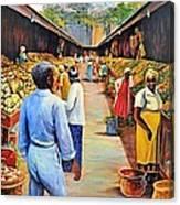 The Market Place Canvas Print