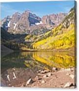 The Maroon Bells Near Aspen Colorado Canvas Print