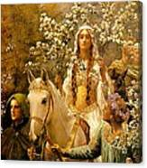The Maying Of Queen Guinevere Canvas Print