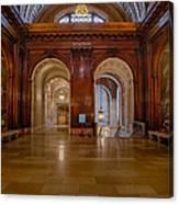 The Mcgraw Rotunda At The New York Public Library Canvas Print
