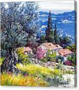 The Med Sea In Summertime Canvas Print