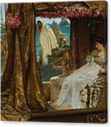The Meeting Of Antony And Cleopatra  41 Bc Canvas Print