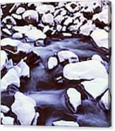 The Merced River In Winter, Yosemite Canvas Print