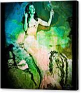 The Mermaid Mirror Canvas Print