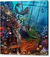 The Mermaids Treasure Canvas Print