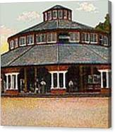 The Merry-go-round In Willow Grove Park Pa Around 1910 Canvas Print