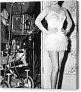 The Merry Widow, Lana Turner On Set Canvas Print