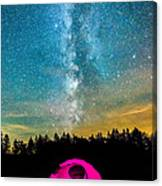 The Midnight Camper Pink Tent Canvas Print
