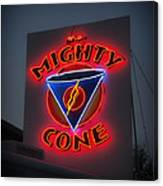 The Mighty Cone Of Austin Texas Canvas Print