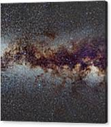 The Milky Way From Scorpio Antares And Sagitarius To North America Nebula In Cygnus Canvas Print