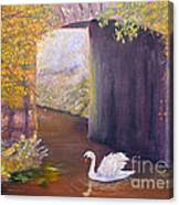 The Mill Swan Canvas Print