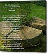 The Mills Of Corporate - Poem And Image Canvas Print