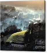The Mist Covered Valley Canvas Print