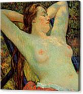 The Model's Siesta Canvas Print