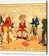 The Modern Job Or John Bull And His Comforts Canvas Print