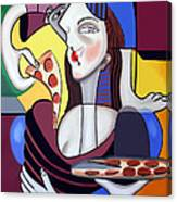 The Mona Pizza Canvas Print