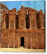 The Monastery At Petra Canvas Print