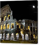 The Moon Above The Colosseum No1 Canvas Print