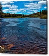The Moose River At The Green Bridge Canvas Print