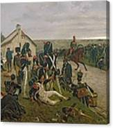 The Morning Of The Battle Of Waterloo Canvas Print