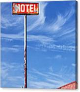 The Motel Palm Springs Desert Hot Springs Canvas Print