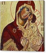 The Mother Of God -the Don Icon Canvas Print