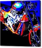 The Motorcycle As Art Canvas Print