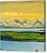 The Mountains Of Arran From Douglas Park Largs Canvas Print